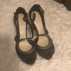 Strappy black stilettos